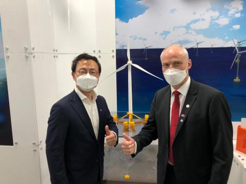 그린에너지 투자운용사 CIP, '울산 부유식 해상풍력 전략 보고' 행사 참석