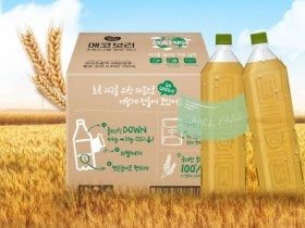 동원F&B, 국내 최초 무라벨 친환경 차 음료 '에코보리' 출시